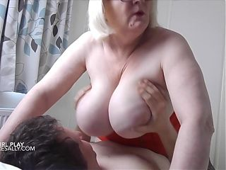 Sally loves having her tits played with