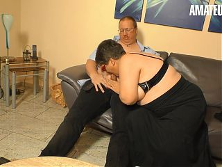 XXXOmas - German Wife Birgit W.'s First Time On Cam With Hubby