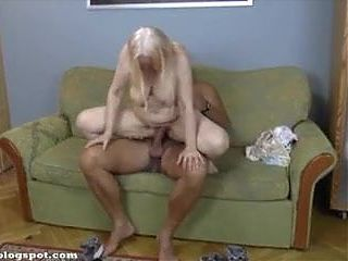Ugly grandmother gets rough fucked
