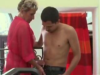 Granny sexual predator uses guy as a fucktoy
