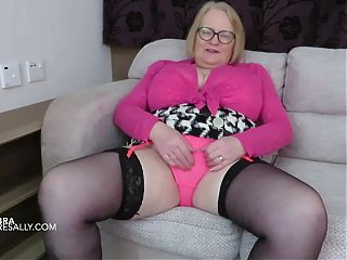 Sally loves her matching sets showing off her big body
