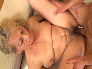 Horny grandmom seduced by her stepson