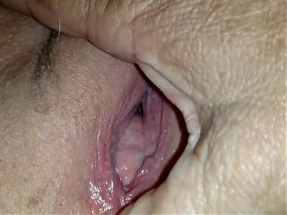 More 72yo Granny Plays with her Fat Pussy