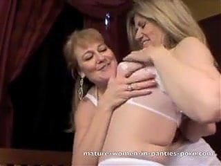 Lesbo milfs in lingerie part-4
