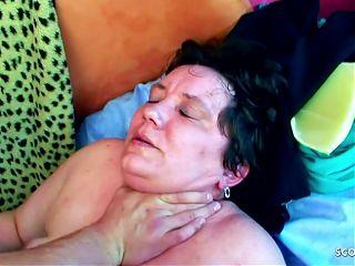 Ugly 73yr old Grandma Gundula Rough Fuck by Step Grand Son