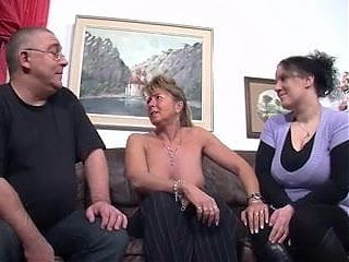 Lucky Old Guy With Two Milfs