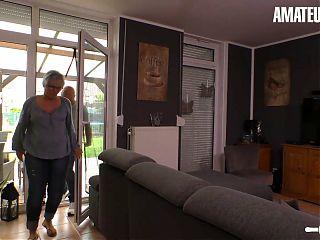 AMATEUREURO - Big Ass German Granny Fucks Her Old Husband