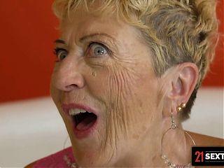 Busty Grandma Succumbs To Handymans Tempting Cock