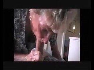 Very old granny sucks big young dick till cum