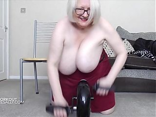 Sally doing her exercises