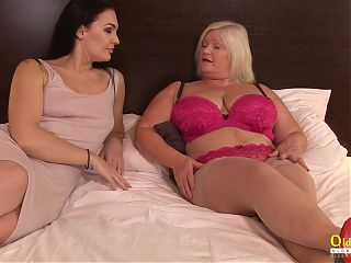 Lacey Starr and Hannah Vivienne are in another room