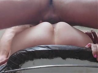Fucking russian granny mature on stool